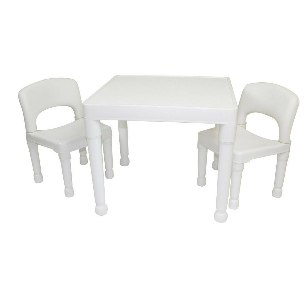 Kinder Weiß Tisch & 2 Stühle Set 8809W