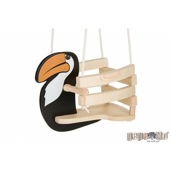 Gut bekannt Kinderschaukel aus Holz Tukan - Gepetto | Per Sempre Toys LO11