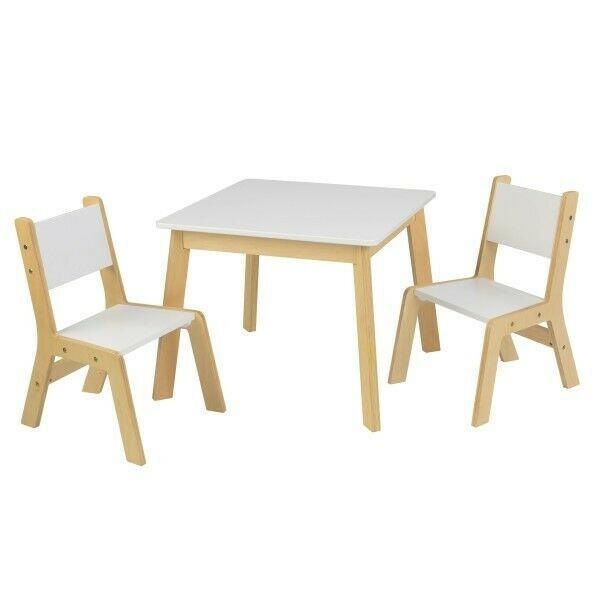 Modernes Tisch Set Mit 2 Stühlen Weiß Kidkraft