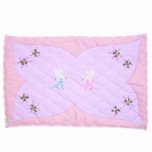 Fairy Cottage Floor Quilt (Win Green – Groß)