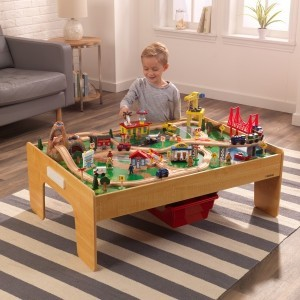 Adventure Town Eisenbahnzug Set & Table mit EZ Kraft Assembly - Kidkraft (18025)