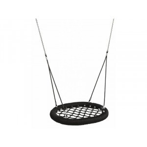 Nestschaukel Oval Pro 100 cm Schwarz Für Den Öffentlichen Gebrauch