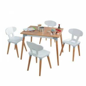 Mid-century Kid Set Mit Tisch und 4 Stuhlen Fur Kleinkinder