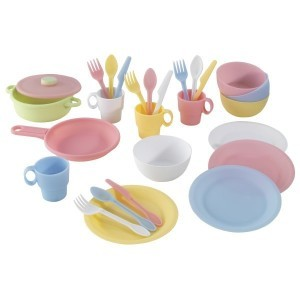 Pastellfarbenes Koch-set (27-teiliges) - Kidkraft (63027)