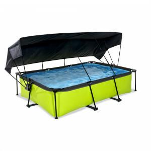 Exit Lime Pool 300x200x65cm mit Sonnensegel und Filterpumpe - Grun