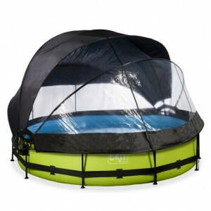 EXIT Lime Pool ø360x76cm mit Abdeckung, Sonnensegel und Filterpumpe - Grun