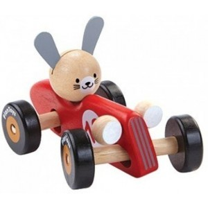 Rennwagen Hase Rot