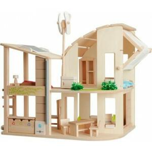 Ökologisches Hölzernes Puppenhaus mit Möbeln