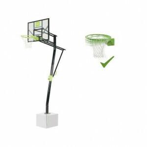 Exit Galaxy Bodenmontiertes Basketball-backboard Mit Dunk-ring - Grün / Schwarz