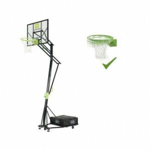 Exit Galaxy Tragbares Basketball-backboard Auf Rädern Mit Dunk-ring - Grün / Schwarz