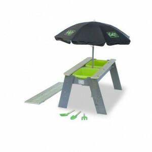 Aksent Sand- und Wassertisch mit Sonnenschirm und Gartengeräten - Exit (52.05.05.45)