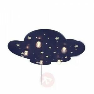 Deckenleuchte Wolke Blau Mit Fluoreszend. Sternen