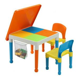 Mehrzweck Aktivität Tisch & 2 Stühle mit Aufbewahrungstasche -  (652-F)