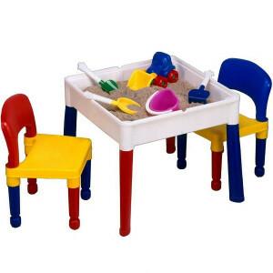 5 in 1 Mehrzweck Square Activity Tisch & 2 Stühle -  (698)