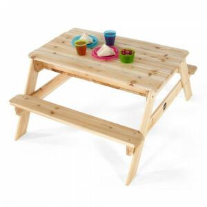 Sandspiel- und Picknicktisch aus Holz - Plum