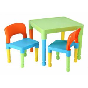 Kinder Mehrfarbiger Tisch & 2 Stühle Set -  (8809UN)