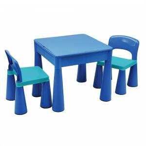 5 in 1 Mehrzweck Tisch & 2 Stühle - Blau -  (899B)
