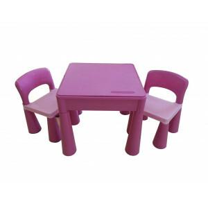 5 in 1 Mehrzweck Aktivität Tisch & 2 Stühle - Pink -  (899PN)