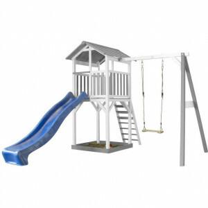 AXI Playtower mit Einzelschaukel - Blaue Rutsche