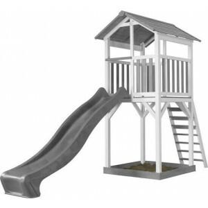 AXI Beach Tower Spielturm Grau / Weiß - Graue Rutsche