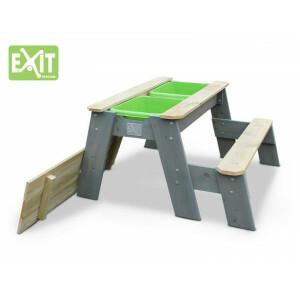 Aksent Sand-, Wasser- und Picknicktisch (L) + 1 Bank - EXIT (52.05.08.05)