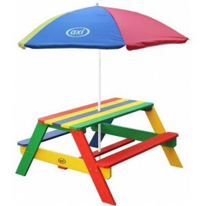 Axi Nick Picknicktisch Regenbogen - Sonnenschirm Regenbogen