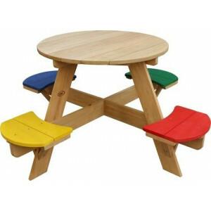 Axi Ufo Picknicktisch Runder Regenbogen