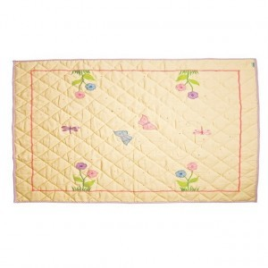Butterfly Cottage Floor Quilt Groß (Win Green)