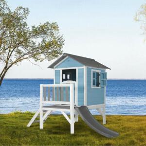 AXI Beach Lodge XL Spielhaus Karibikblau - Graue Rutsche
