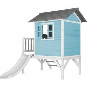 AXI Beach Lodge XL Playhouse Karibikblau - Weiße Rutsche