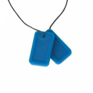 Chewigem Chewing Necklace - Blaue Erkennungsmarken