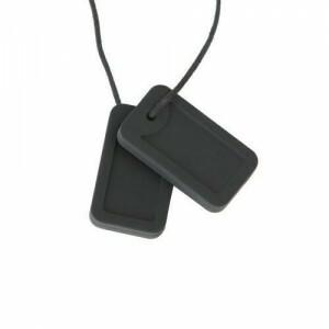 Chewigem Chewing Necklace - Schwarze Erkennungsmarken