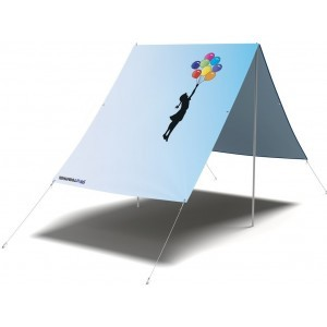 Girl Floating Away Sunshade