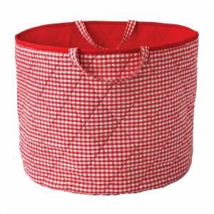 Gingham Spielzeugkorb (Rot) - Kiddiewinkles (REDGTB)