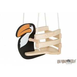 Kinderschaukel aus Holz Tukan - Gepetto