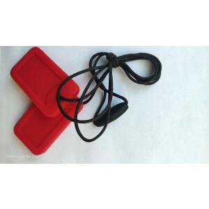 Chewigem Chewing Necklace - Rote Erkennungsmarken