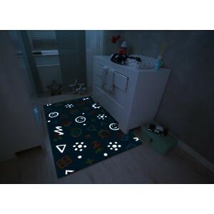 Teppich blaue Ikonen der Kinder (110 x 160cm)