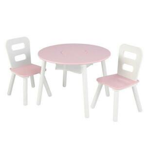 Kindersitzgruppe mit Tisch & 2 Stühlen (Rosa) - Kidkraft (26165)