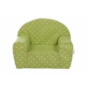 Gepetto Kinder Sessel - Grün mit weißen Punkten