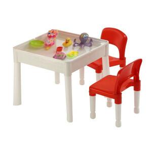 6-in-1-mehrzweck-aktivitätstisch und 2 Stühle
