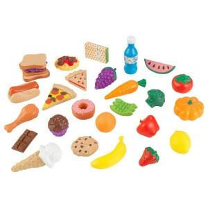 Luxe 30-Stück Spiel-Lebensmittel (Counterfeit Lebensmittel) - Kidkraft (63509)