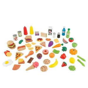 Luxe 65-Stück Spiel-Lebensmittel XL (Counterfeit Lebensmittel) - Kidkraft (63510)