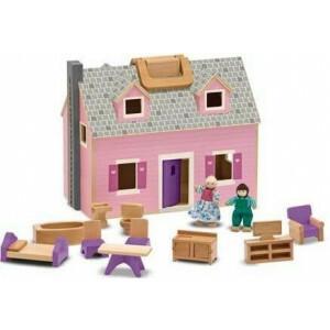 Tragbares Holzpuppenhaus Melissa & Doug