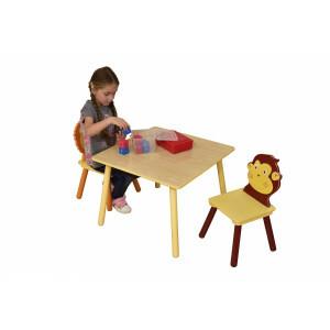 Jungle Quadratischer Tisch & 2 Stühle Set (MZ3868-N)