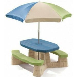 Picknicktisch mit Sonnenschirm (Aqua) - Step2 (843800)