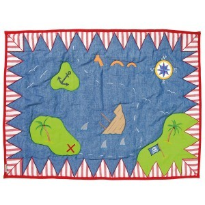 Piratenspielzelt Floor Quilt (Win Green – Klein)