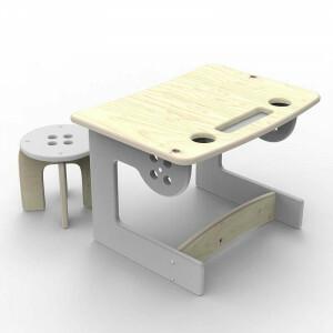 Guzik Hocker Tisch Grau