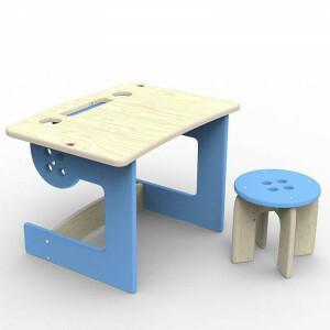 Guzzik Hocker Tisch Blau