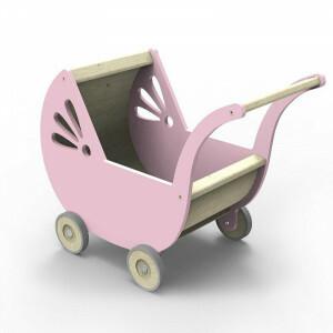 Lila Puppenwagen Rosa