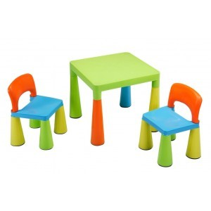 Mehrfarbiger Tisch und Stühle für Kinder -  (SM004UN)